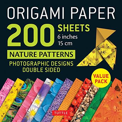 Origami Paper 200 Sheets Nature Patterns 6 Inches 15 Cm