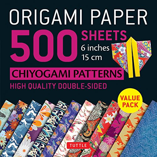 9780804849234: Origami Paper 500 sheets Chiyogami Designs 6 inch 15cm: High-Quality Origami Sheets Printed with 12 Different Designs (Instructions for 8 Projects Included) (Origami Paper Pack)