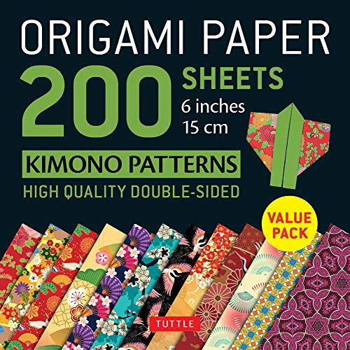 9780804850803: Origami Paper Kimono Patterns: Tuttle Origami Paper; High-quality Double-sided Origami Sheets Printed With 12 Patterns; Instructions for 6 Projects Included; 200 Sheets, 6 Inch, 15 Cm