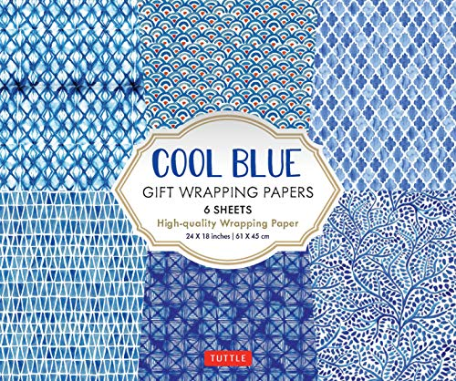 9780804852210: Cool Blue Gift Wrapping Papers: 6 Sheets of High-Quality 24 x 18 inch Wrapping Paper