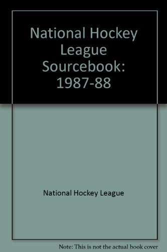 National Hockey League Sourcebook: 1987-88: National Hockey League