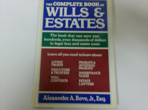 9780805008845: The complete book of wills & estates
