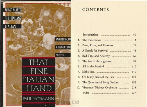 9780805009774: That Fine Italian Hand