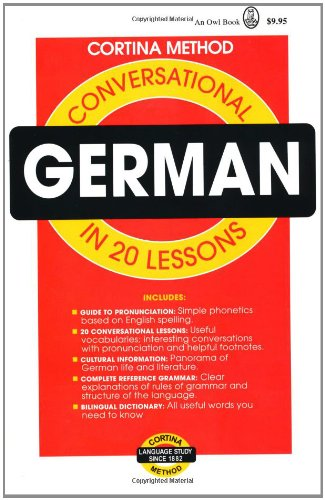 9780805014983: Conversational German: In 20 Lessons (Cortina Method)