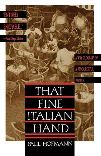 9780805017298: That Fine Italian Hand