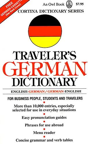 9780805029109: Traveler's German Dictionary (Cortina Dictionary)