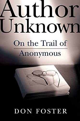 Author Unknown: On the Trail of Anonymous