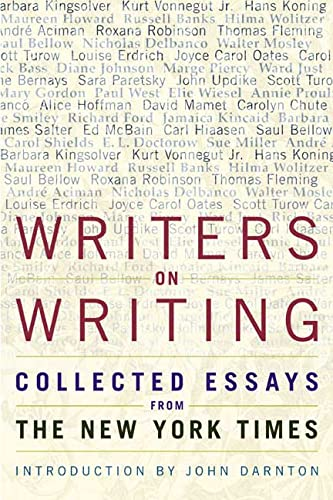 9780805067415: Writers on Writing: Collected Essays from the New York Times (Writers on Writing (Times Books Hardcover))