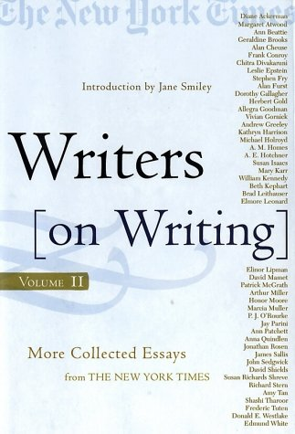 9780805073614: Writers on Writing, Volume II: More Collected Essays from The New York Times (Writers on Writing (Times Books Hardcover))
