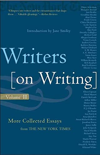 9780805075885: Writers on Writing, Volume II: More Collected Essays from The New York Times (Writers on Writing (Times Books Paperback))