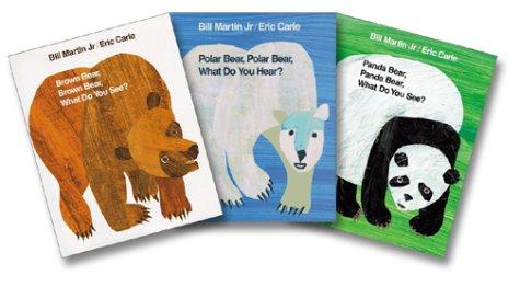 9780805076196: Bill Martin Jr. & Eric Carle Three-Bear Set (Brown Bear, Polar Bear, Panda Bear)