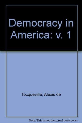 9780805200133: Democracy in America: v. 1