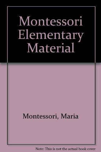 9780805203806: Montessori Elementary Material