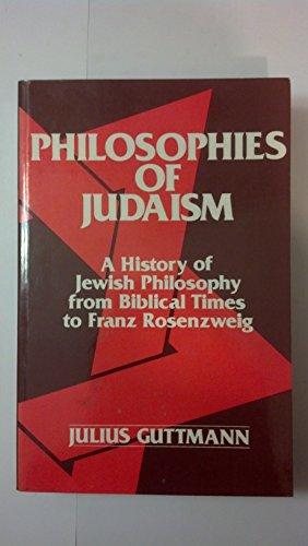 9780805204025: Philosophies of Judaism