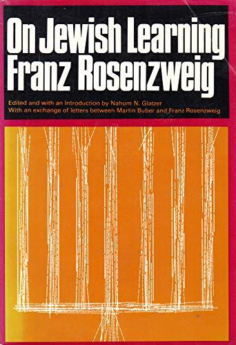 On Jewish Learning: Rosenzwerg, Franz