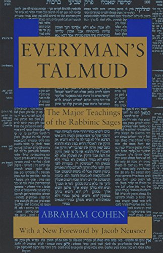 9780805210323: Everyman's Talmud: The Major Teachings of the Rabbinic Sages
