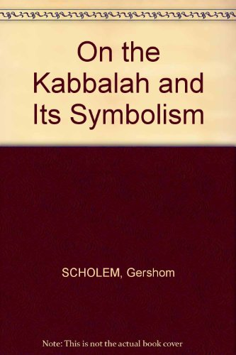 9780805231892: On the Kabbalah and Its Symbolism