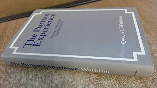 9780805234251: The Puritan Experience: Studies in Spiritual Autobiography