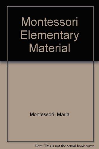 9780805235012: Montessori Elementary Material