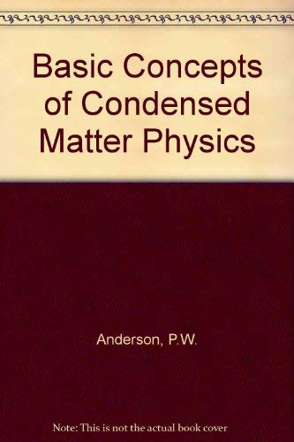 9780805302295: Concepts In Solids