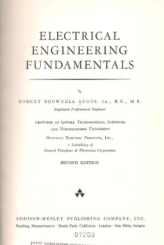 9780805302509: Electrical Engineering Fundamentals, 2nd Edition