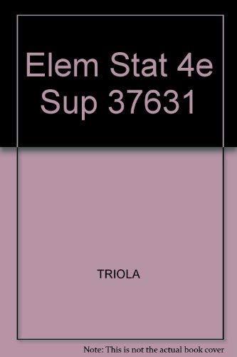 9780805302714: Elem Stat 4e Sup 37631