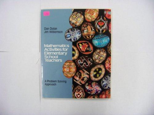 9780805303926: Mathematics Activities for Elementary School Teachers: A Problem Solving Approach
