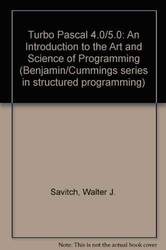 Turbo Pascal 4.015.0: Savitch, Walter J.