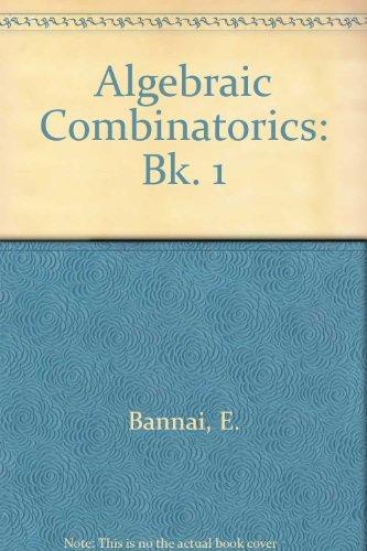 9780805304909: Algebraic Combinatorics I: Association Schemes