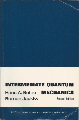 9780805307559: Intermediate Quantum Mechanics (Lecture notes and supplements in physics)