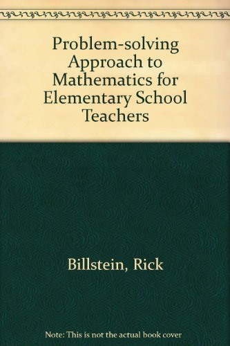 9780805308563: Problem-solving Approach to Mathematics for Elementary School Teachers