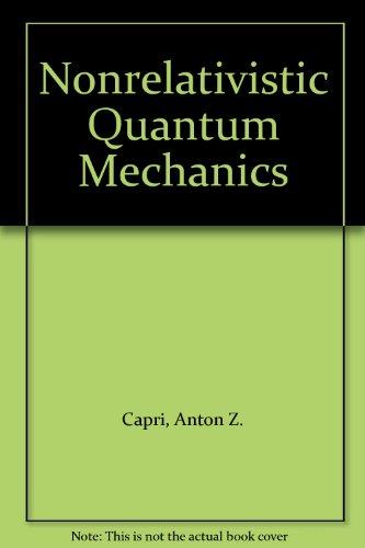 9780805315059: Nonrelativistic Quantum Mechanics