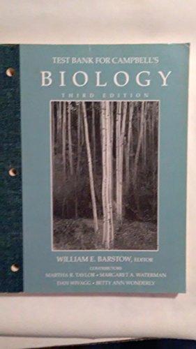 9780805318838: Testbank To Biology