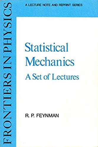 9780805325096: Statistical Mechanics: A Set of Lectures