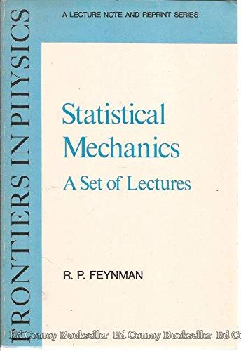 9780805325096: Statistical Mechanics: A Set Of Lectures (Frontiers in Physics)