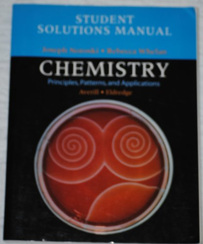 9780805338133: Student Solutions Manual for Chemistry: Principles, Patterns, and Applications