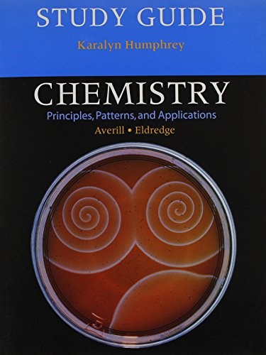 9780805338140: Study Guide for Chemistry: Principles, Patterns, and Applications