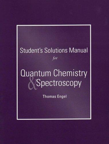 Mcquarrie Quantum chemistry solution Manual