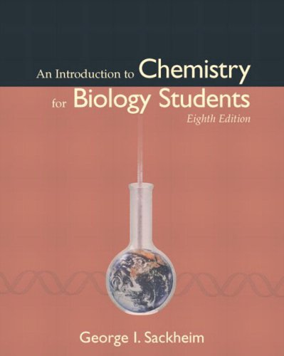 9780805339703: An Introduction to Chemistry for Biology Students