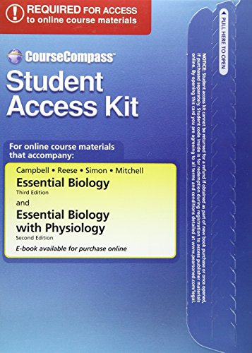CourseCompass(TM) Student Access Kit for Essential Biology (9780805346633) by Neil A. Campbell; Jane B. Reece; Eric J. Simon