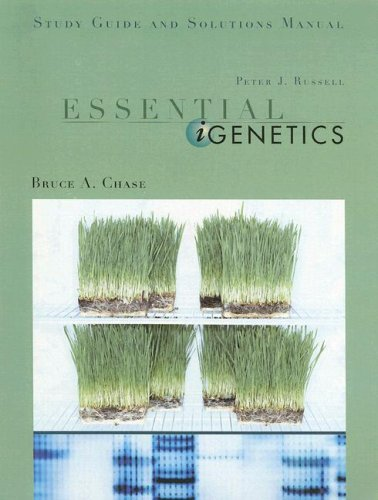 Essential Igenetics: Study Guide And Solutions Manual: Peter J. Russell