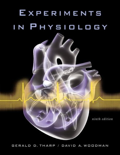 9780805349078: Experiments in Physiology (9th Edition)