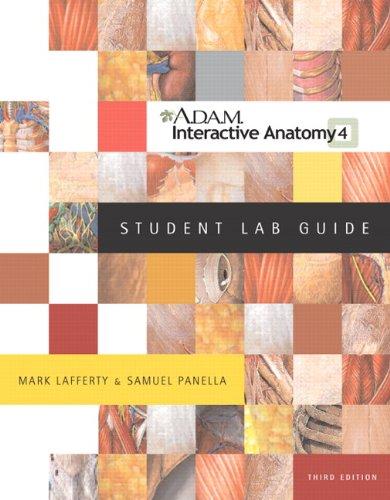 9780805359114: LAFFERTY: ADAM I/A ANAT STD LAB G_p3 (3rd Edition)