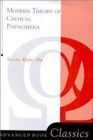 9780805366709: Modern Theory of Critical Phenomena