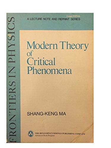 9780805366716: Modern Theory of Critical Phenomena: 046