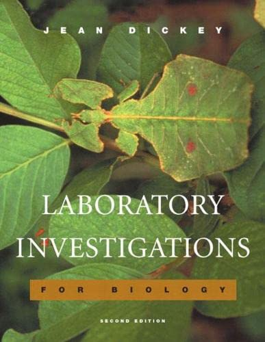 9780805367898: Laboratory Investigations for Biology (2nd Edition)