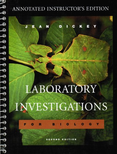 9780805367928: Laboratory Investigations for Biology, Annotated Instructor's Edition