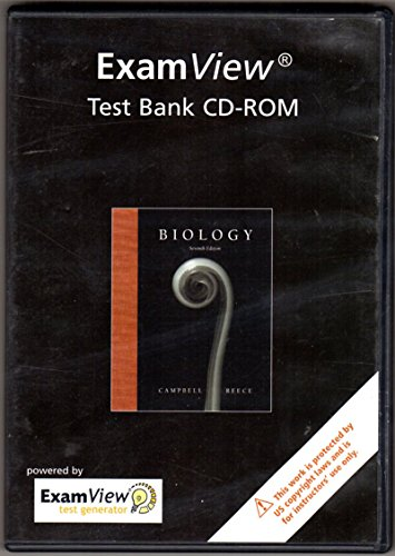 9780805371291: Exam View Test Bank CD-ROM Biology - 7th Edition