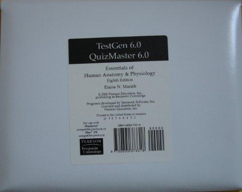 9780805373318: Essentials of Human Anatomy & Physiology: TestGen 6.0 QuizMaster 6.0