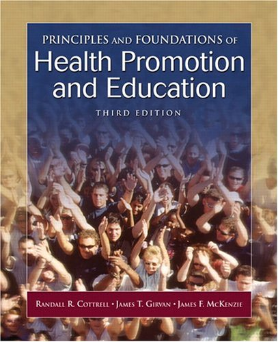 9780805378788: Principles and Foundations of Health Promotion and Education (3rd Edition)